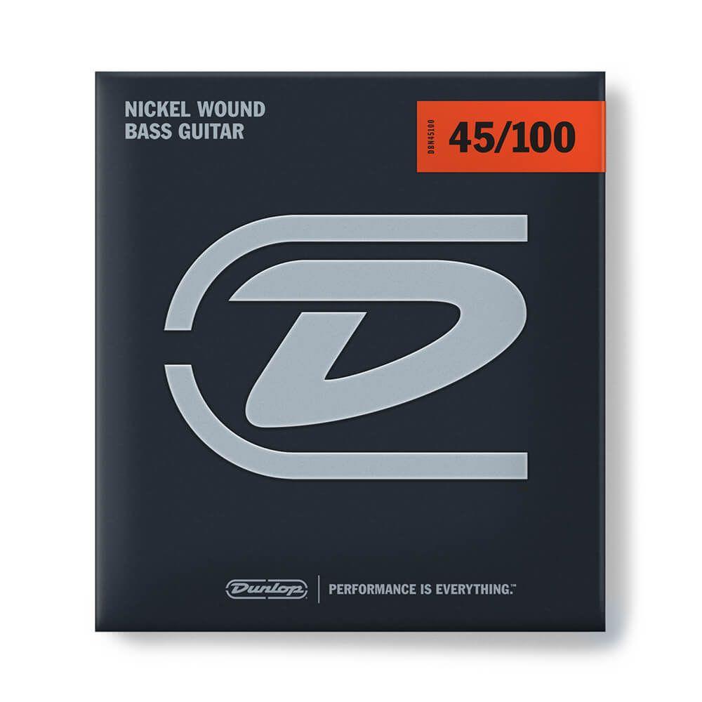 Jim Dunlop DBN45100 Bass Strings, Nickel, Medium Light - 45/100