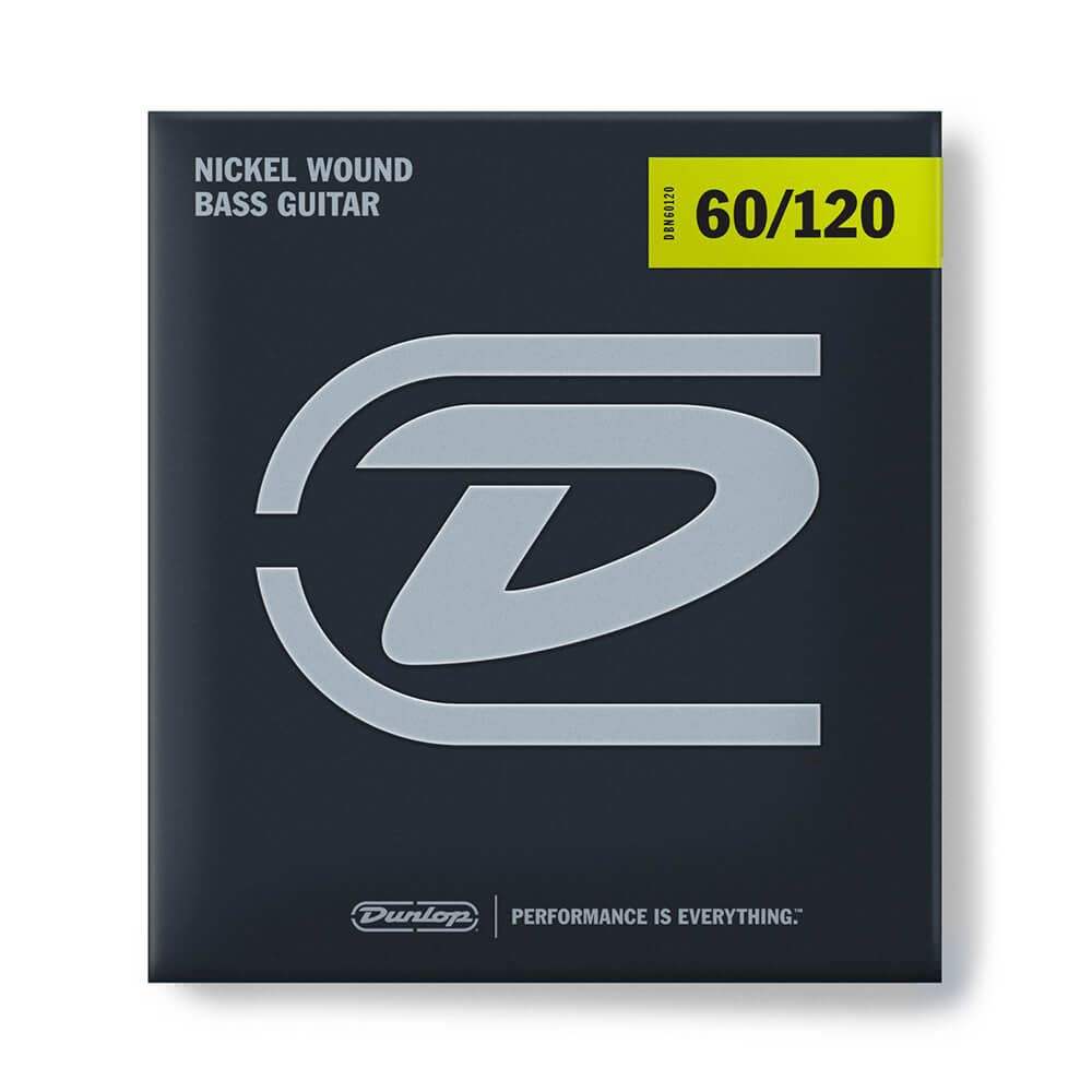 Jim Dunlop DBN60120 Bass Strings, Nickel, Extra Heavy Drop - 60/120