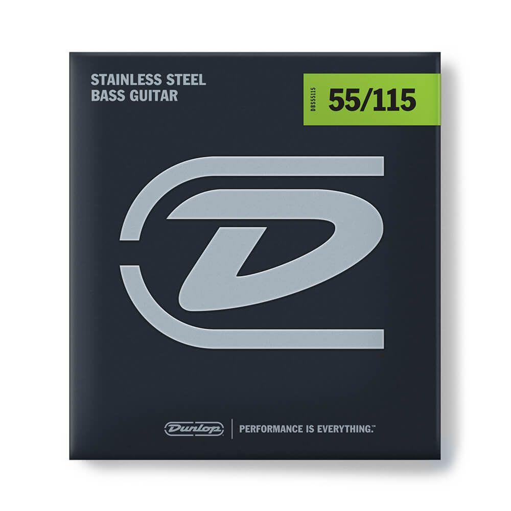 Jim Dunlop DBS55115 Bass Strings, Steel, Extra Heavy - 55/115