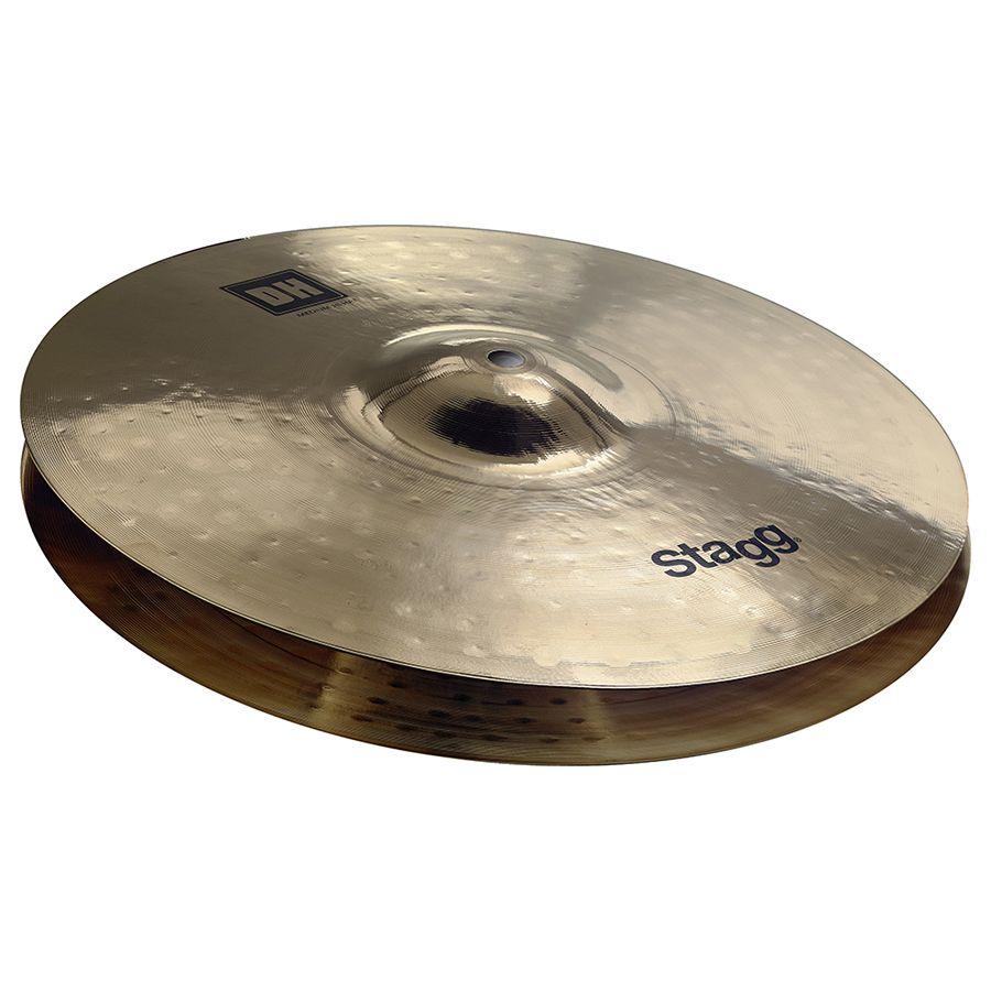 Stagg DH-HM15B Dual Hammered 15″ DH Brilliant Medium Hi-Hat Cymbals