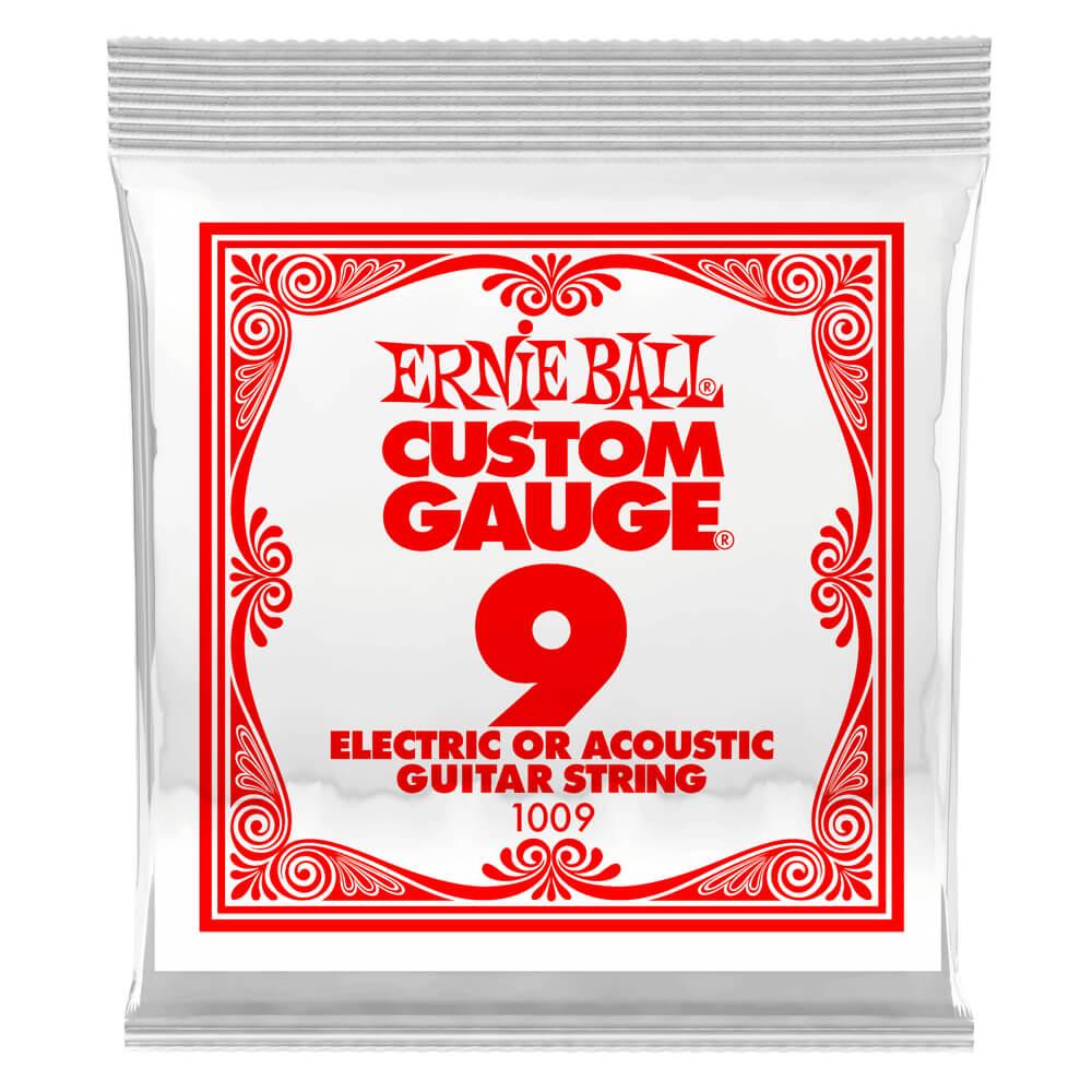 Ernie Ball 1009 Plain Steel .009 Single Electric Guitar String