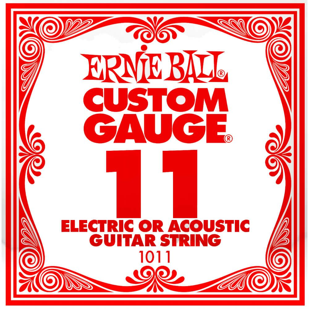 Ernie Ball 1011 Plain Steel .011 Single Electric Guitar String