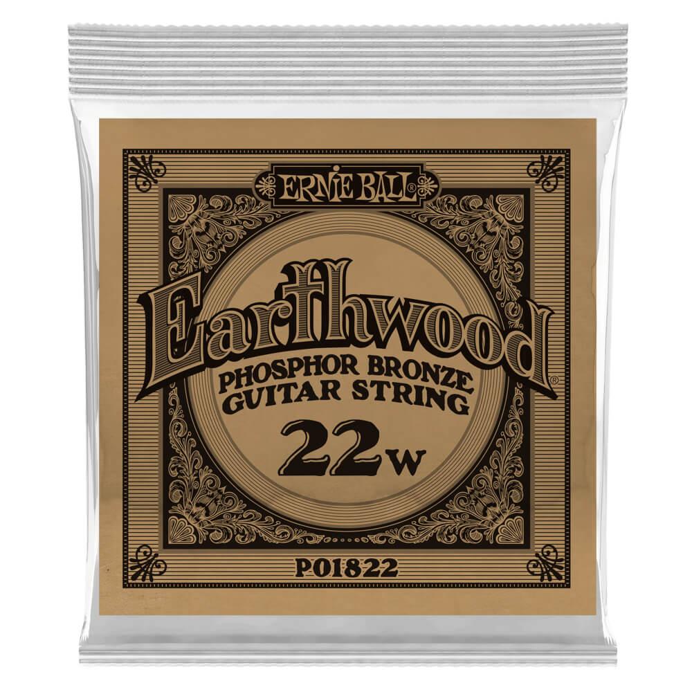 Ernie Ball 1822 Earthwood .022 Phosphor Bronze Single Acoustic Guitar String