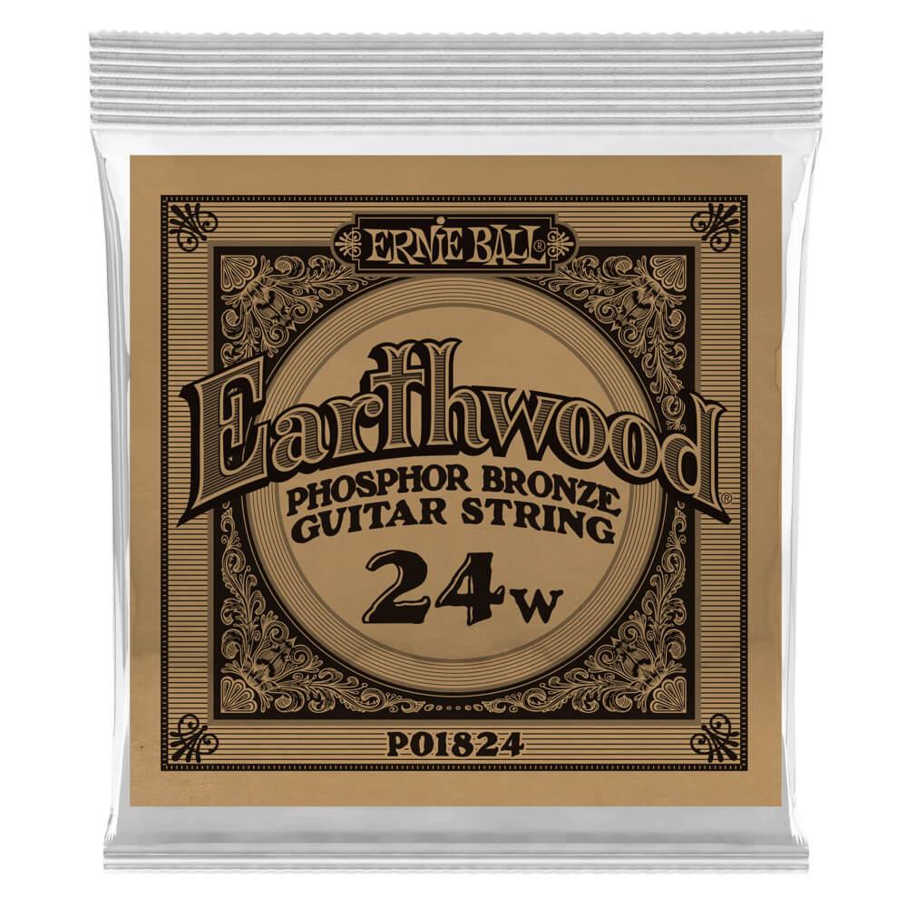 Ernie Ball 1824 Earthwood .024 Phosphor Bronze Single Acoustic Guitar String