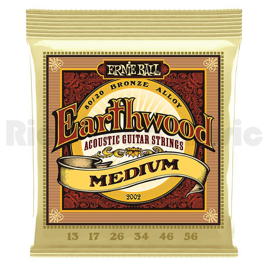Ernie Ball 2002 Earthwood Medium 80/20 Bronze 13-56
