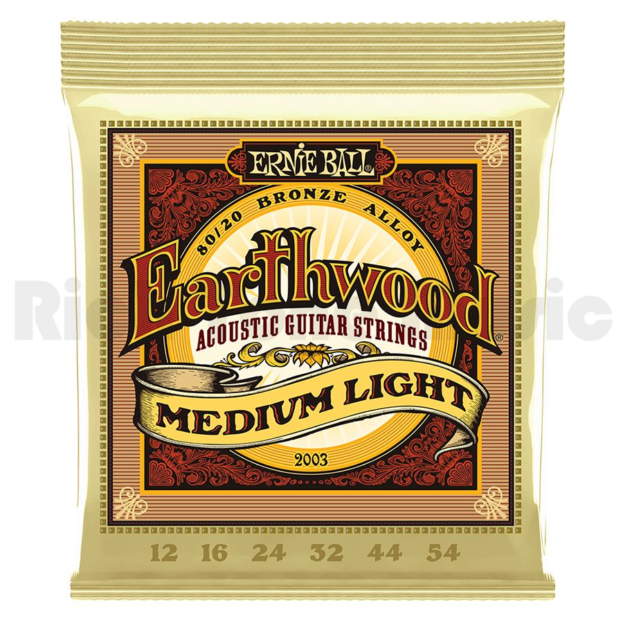 Ernie Ball 2003 Earthwood Medium Light 80/20 Bronze 12-54