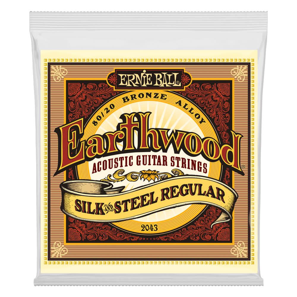 Ernie Ball 2043 Earthwood Regular Silk'n'Steel 80/20 Bronze 13-56