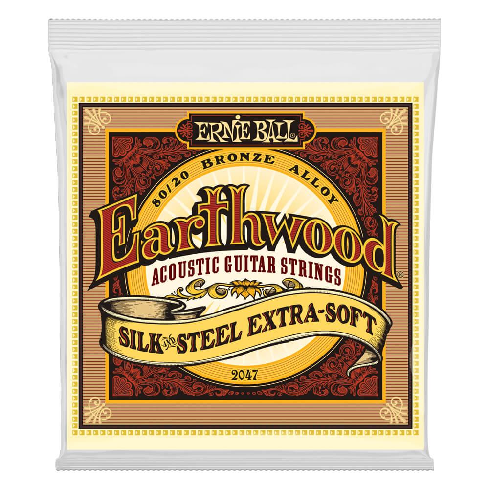 Ernie Ball 2047 Earthwood Extra Soft Silk'n'Steel 80/20 Bronze 10-50