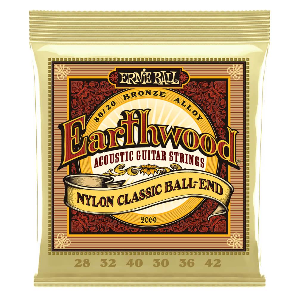 Ernie Ball 2069 Earthwood Folk Nylon Classic Ball-End 28-42