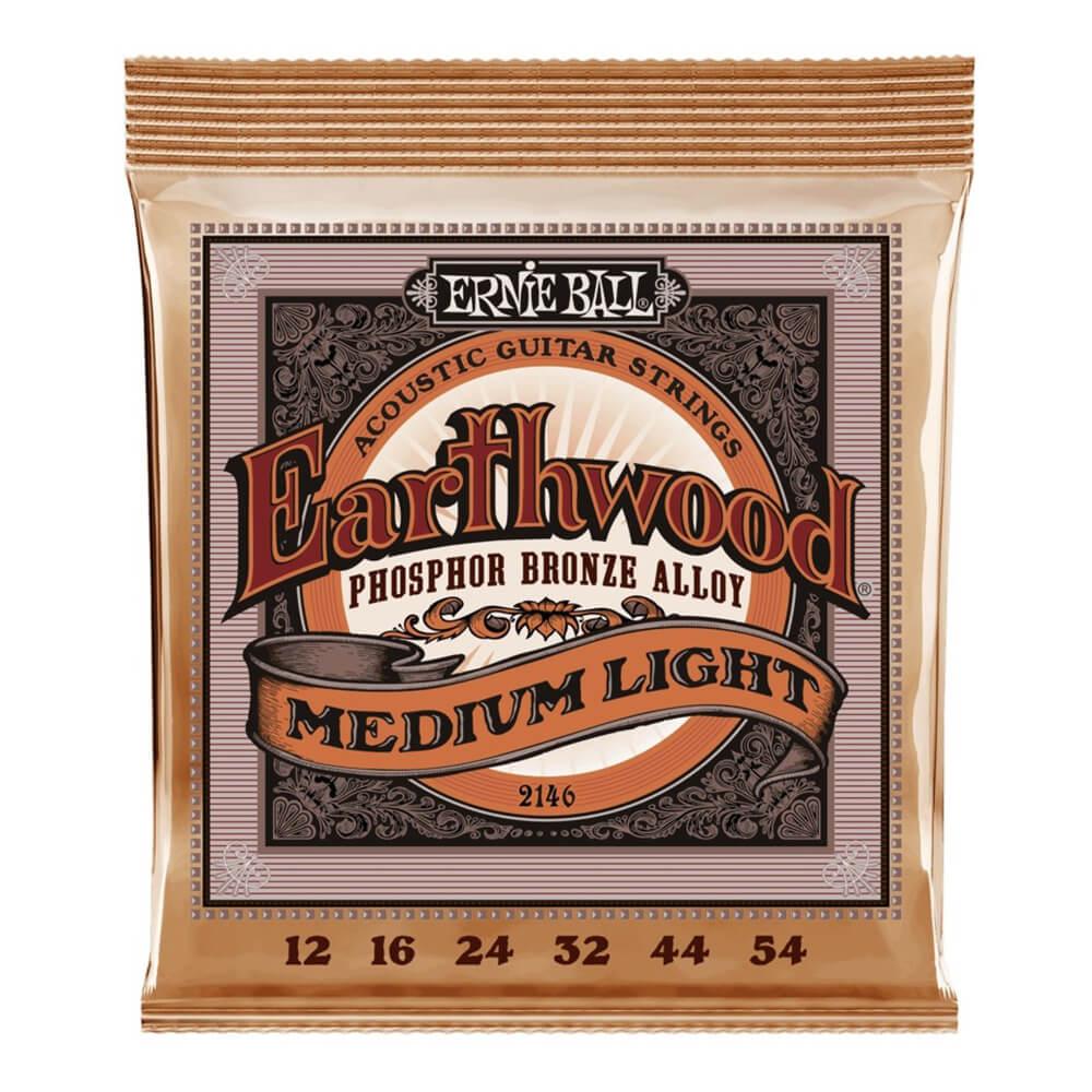 Ernie Ball 2146 Eathwood Medium Light Phosphor Bronze 12-54