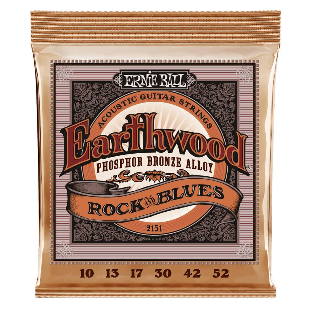 Ernie Ball 2151 Earthwood Rock 'n' Blues Phosphor Bronze 10-52
