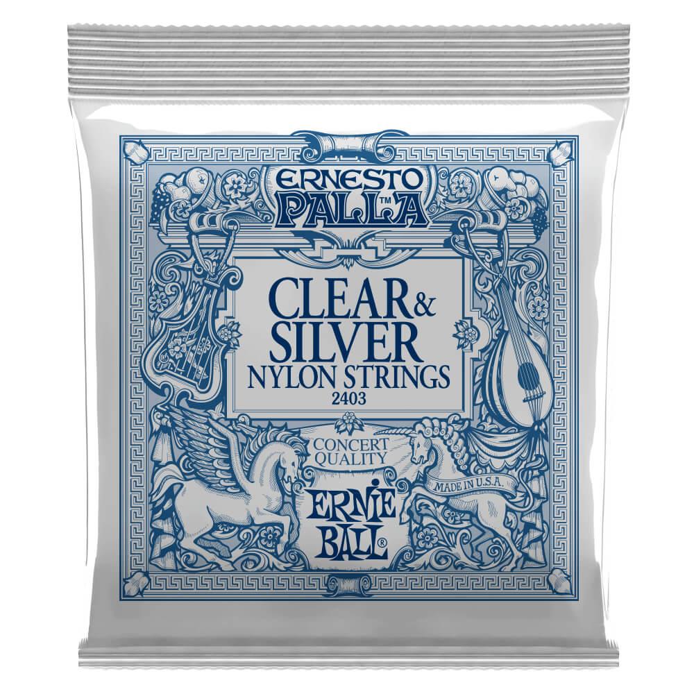 Ernie Ball 2403 Ernesto Palla Nylon Clear & Silver Set