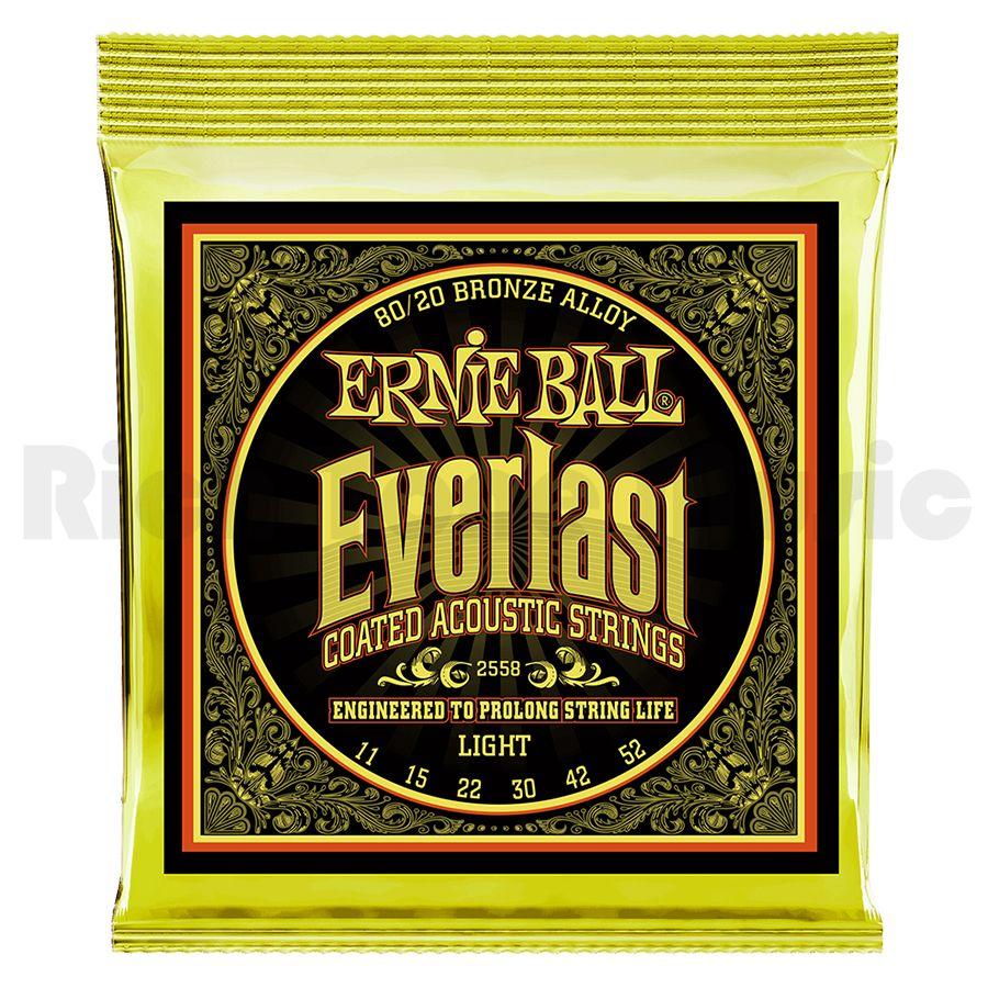 Ernie Ball 2558 Everlast Light Coated 80/20 Bronze 11-52