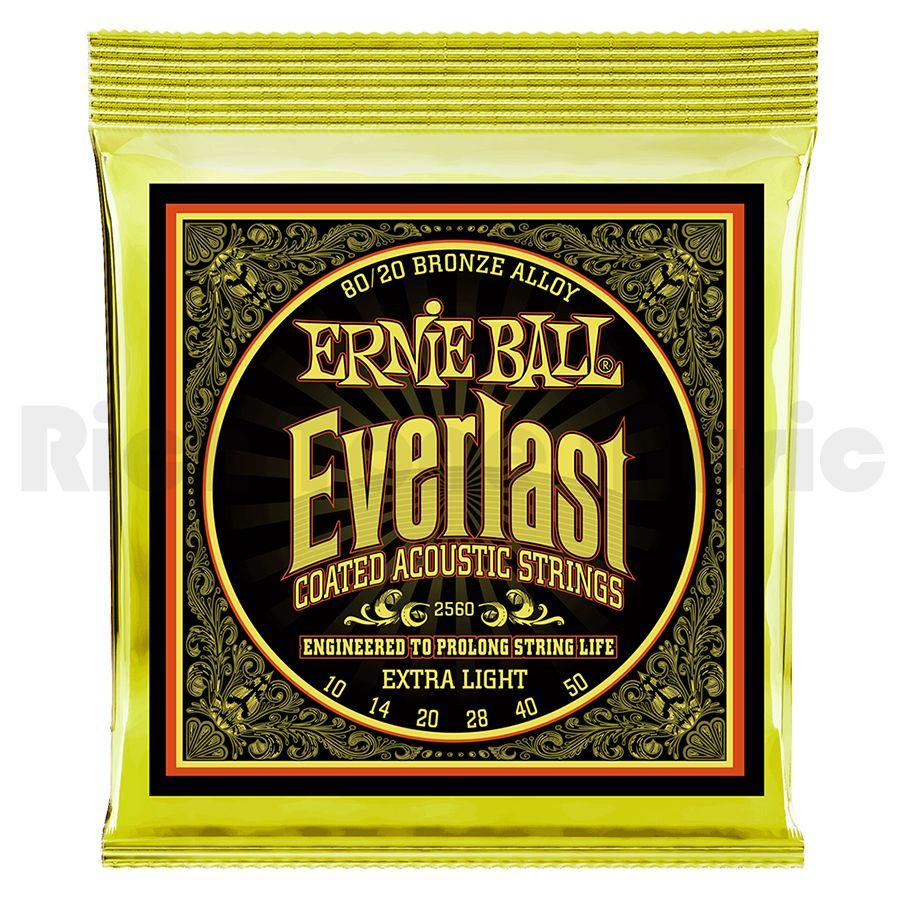 Ernie Ball 2560 Everlast Extra Light Coated 80/20 Bronze 10-50