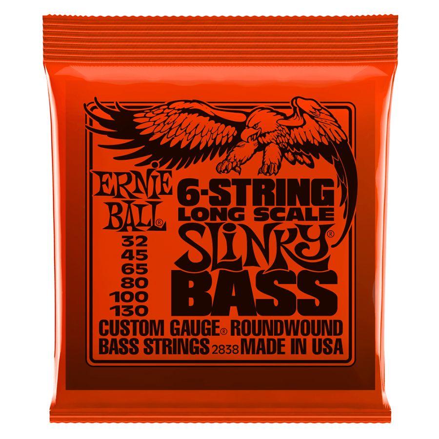 Ernie Ball 2838 6 String Slinky Long Scale Nickel Wound Bass Strings - 32-130
