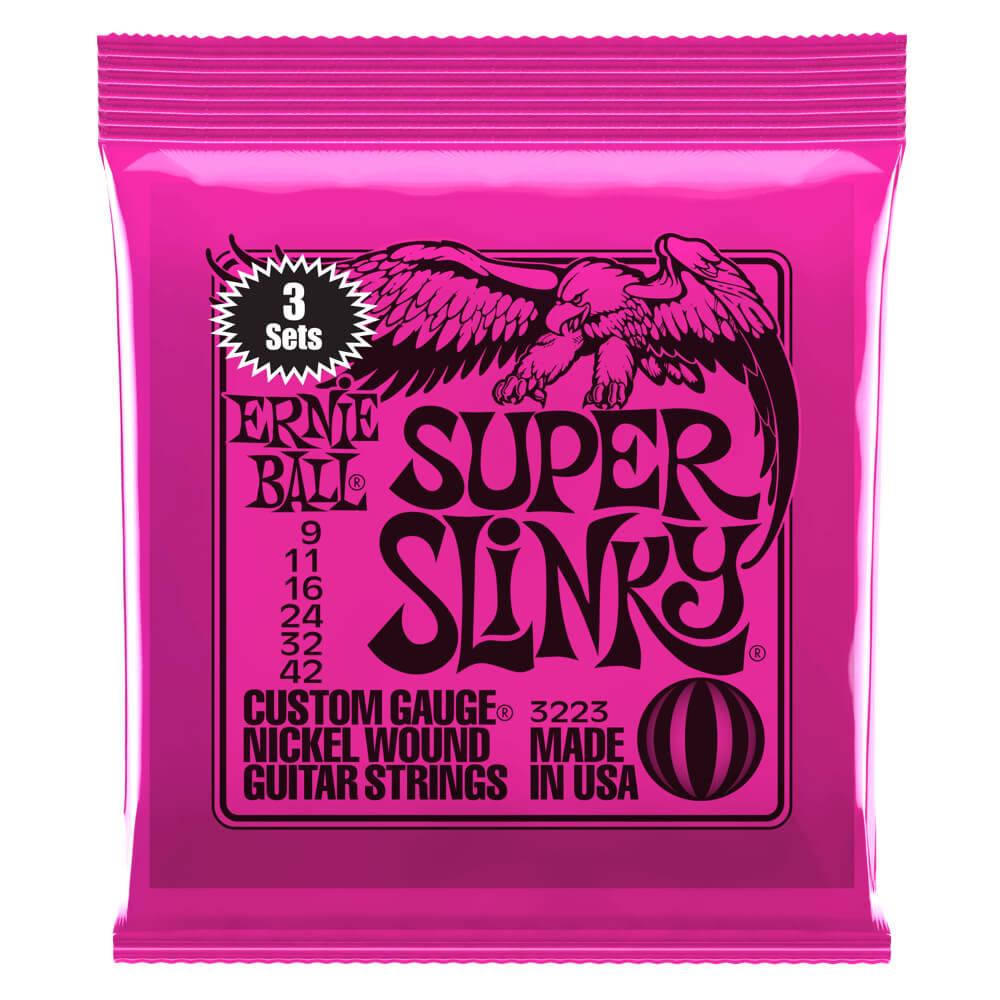 Ernie Ball 3223 3 Pack Super Slinky 9-42