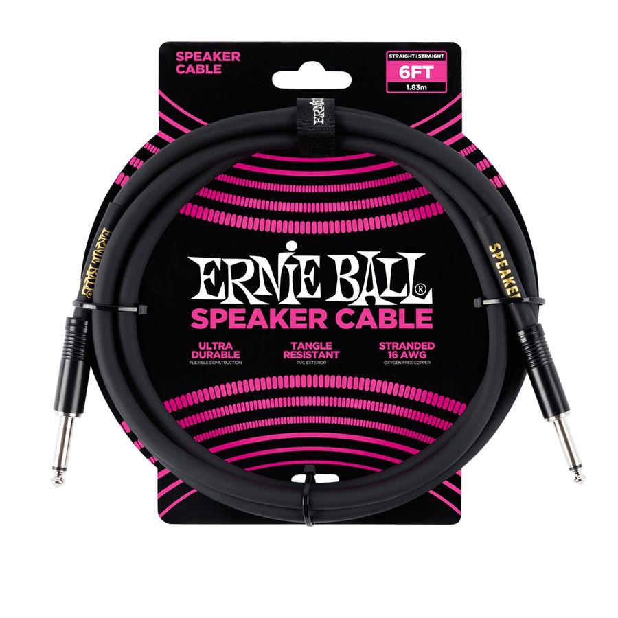 Ernie Ball 6ft Straight/Straight Speaker Cable - Black