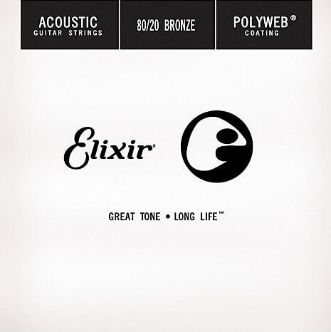 Elixir - Single Wound Acoustic Polyweb 80/20 Bronze (0.045)