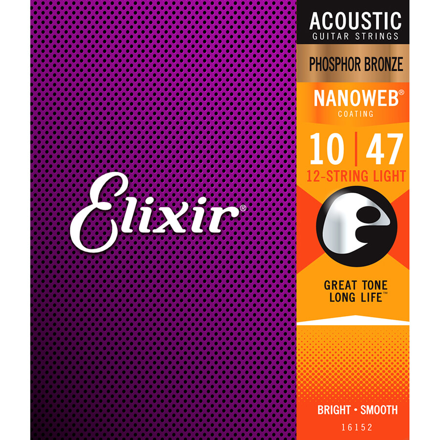 Elixir Phosphor Bronze Nanoweb 12 String Light Set (.010 - .047)