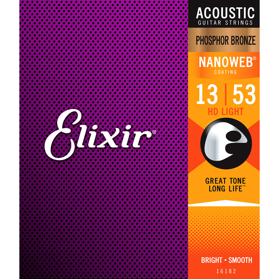 Elixir Phosphor Bronze Nanoweb Strings - HD Lgt
