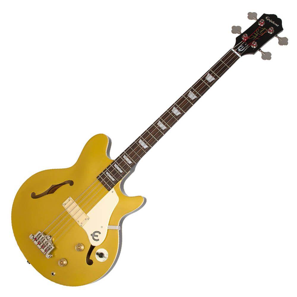 Epiphone Jack Casady Signature Bass - Metallic Goldtop