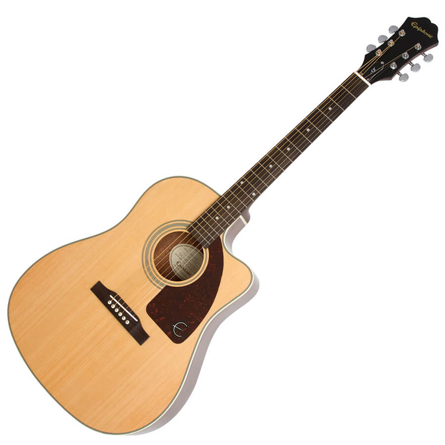 Epiphone AJ-210CE Outfit Including Hard Case - Natural
