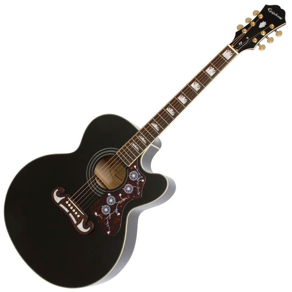 Epiphone EJ200CE Electro Acoustic Guitar - Ebony - EJ200