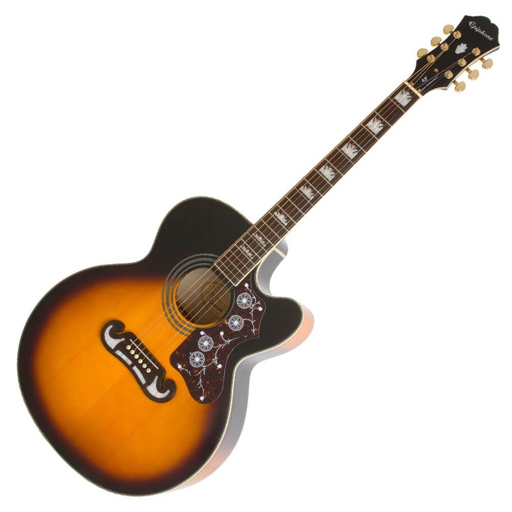 Epiphone EJ200CE Electro Acoustic Guitar - Sunburst - EJ200