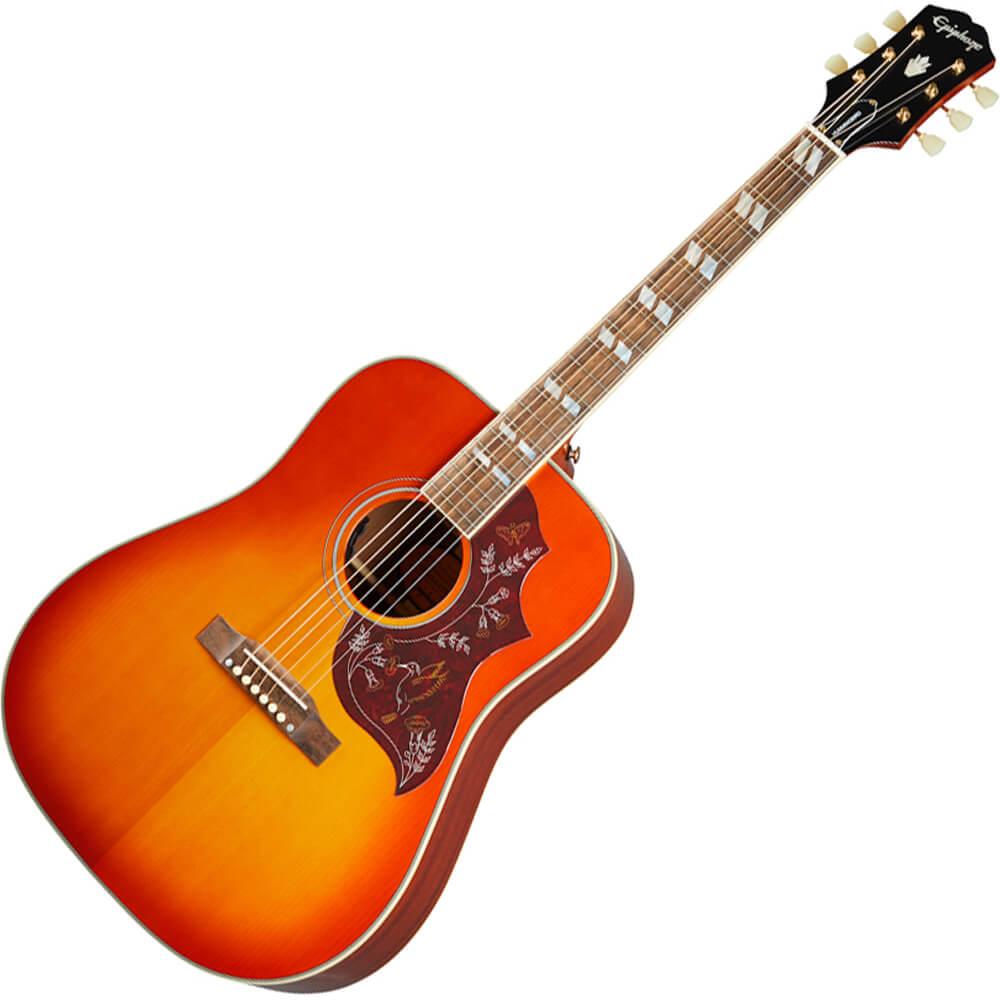 Epiphone Inspired by Gibson Hummingbird - Aged Cherry Sunburst Gloss