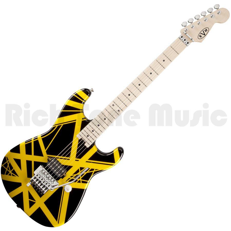 EVH Stripe Electric Guitar - Black with Yellow Stripes