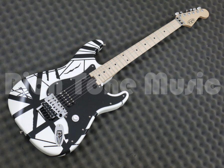 4866fab1ce0 EVH Stripe Electric Guitar - White with Black Stripes