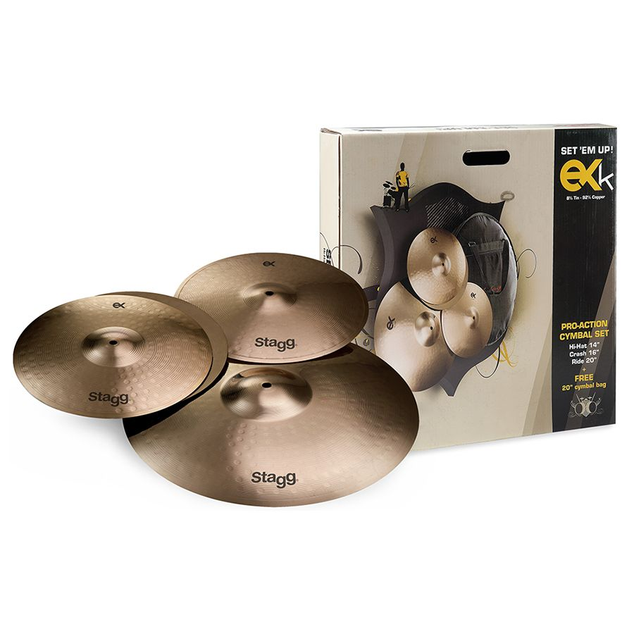 Stagg EXK SET B8 Bronze Cymbal Set For Beginners/Students