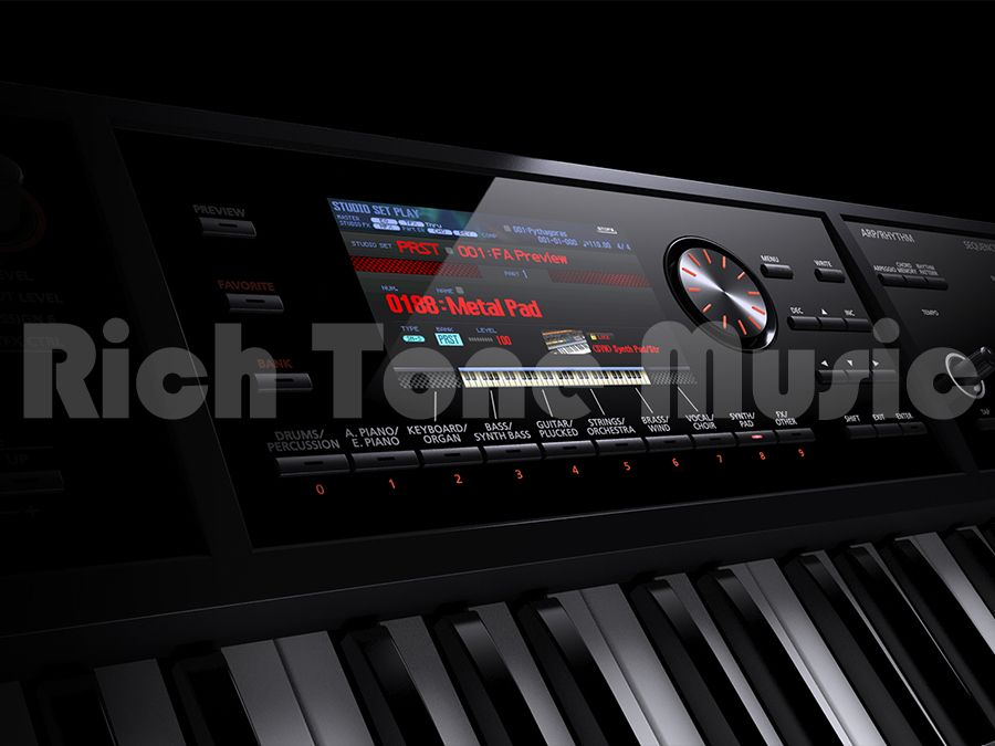 roland fa 07 76 note portable keyboard workstation rich tone music. Black Bedroom Furniture Sets. Home Design Ideas