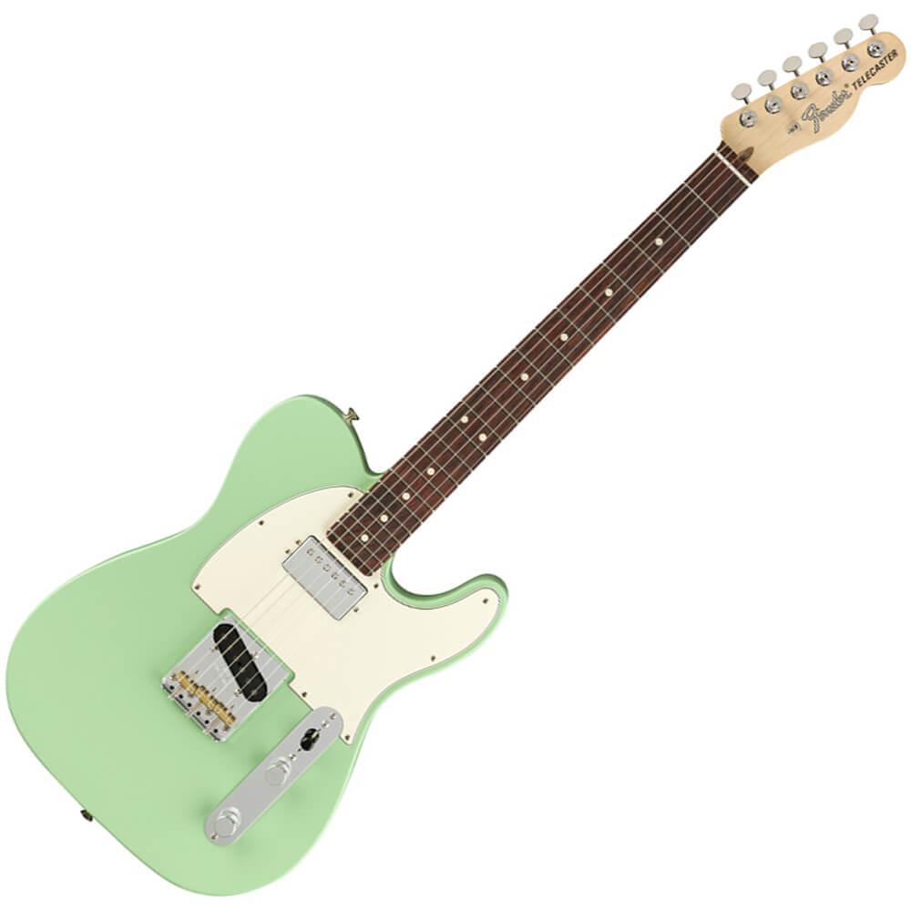 Fender American Performer Telecaster, Humbucking - RW - Satin Surf Green