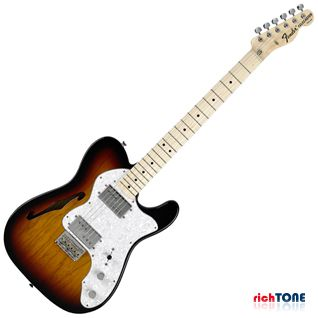 Fender Classic Series 72 Telecaster Thinline MN 3-Color Sunburst