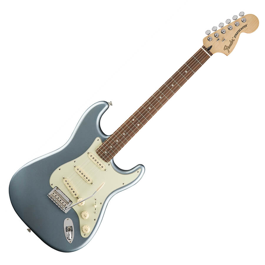 fender deluxe roadhouse stratocaster pf mystic ice blue rich tone music. Black Bedroom Furniture Sets. Home Design Ideas