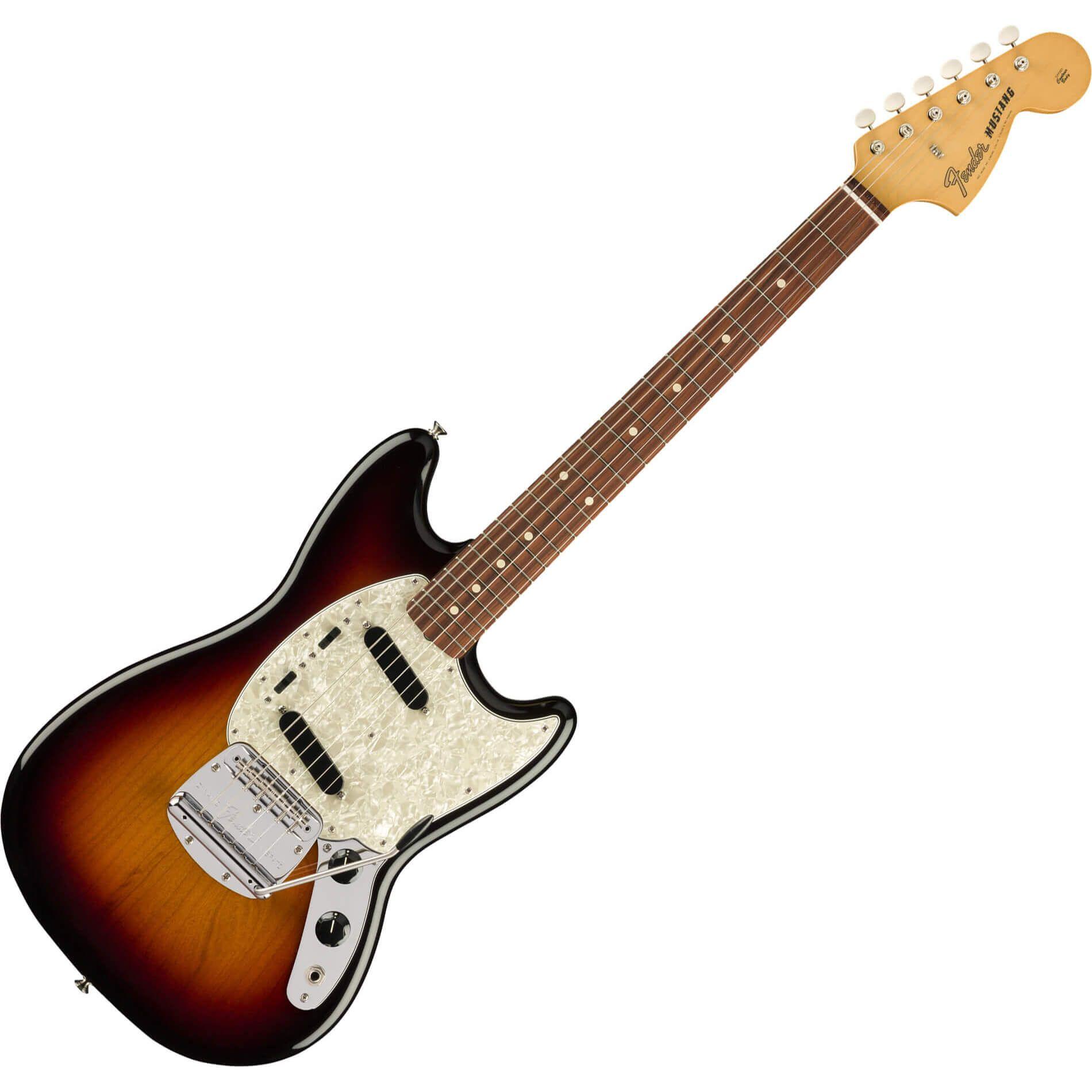 Fender Vintera Series 60s Mustang - PF - 3-Tone Sunburst