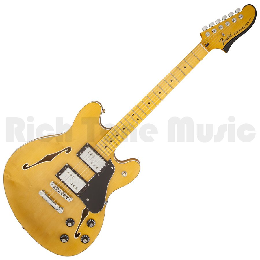 fender modern player starcaster electric guitar natural rich tone music. Black Bedroom Furniture Sets. Home Design Ideas