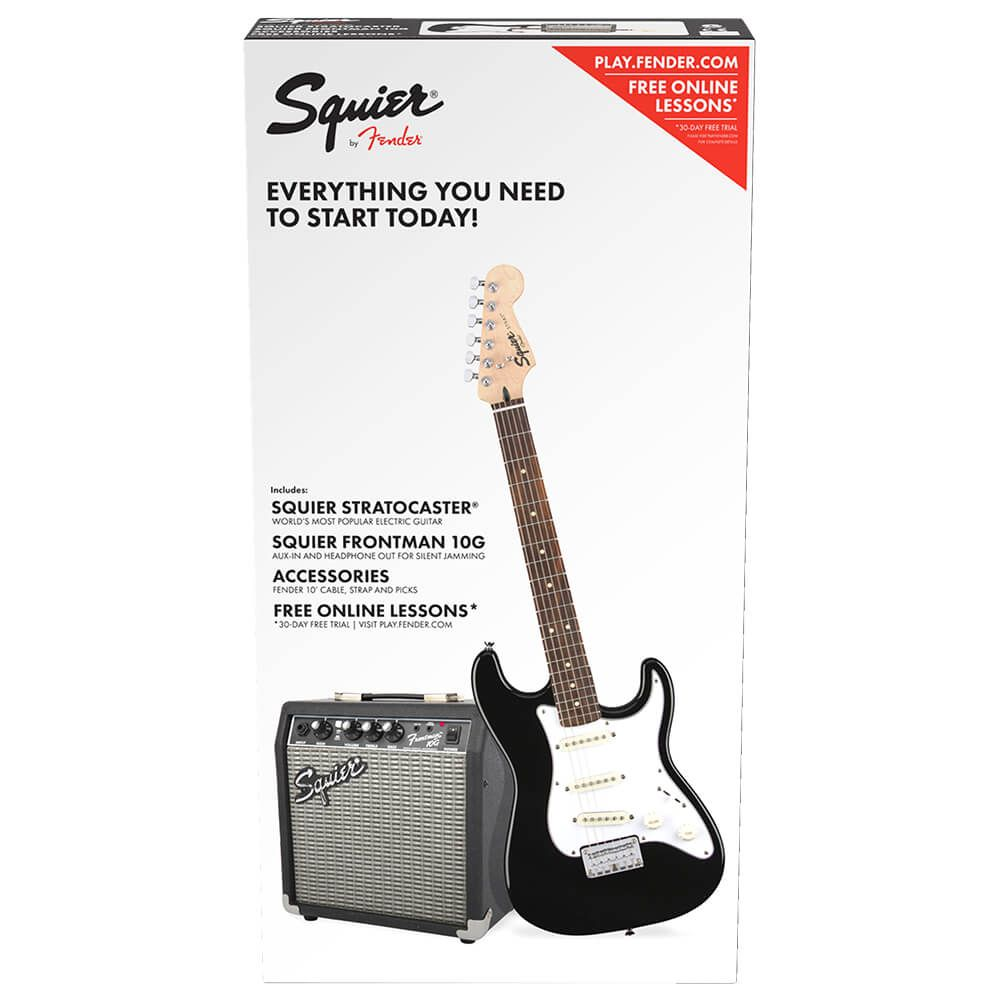 Squier Stratocaster Short Scale Electric Guitar Pack - Black