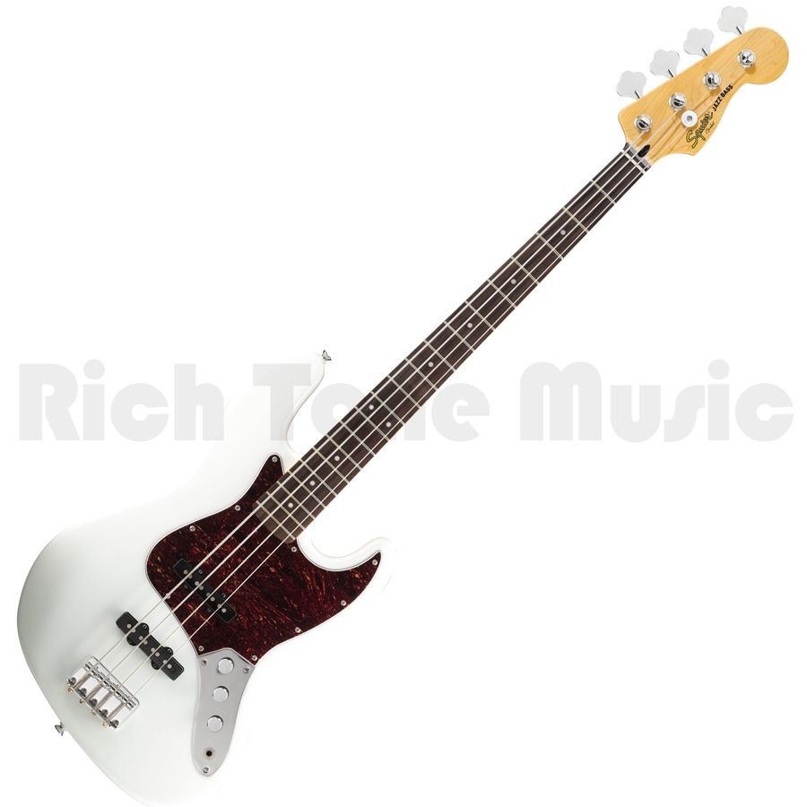 Squier Vintage Modified Jazz Bass - Rosewood - Olympic White