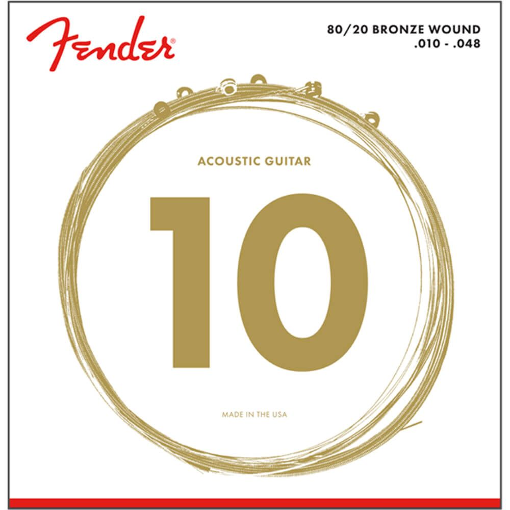 Fender 80/20 Bronze Wound Acoustic Strings, Ball End, 70XL, 10-48