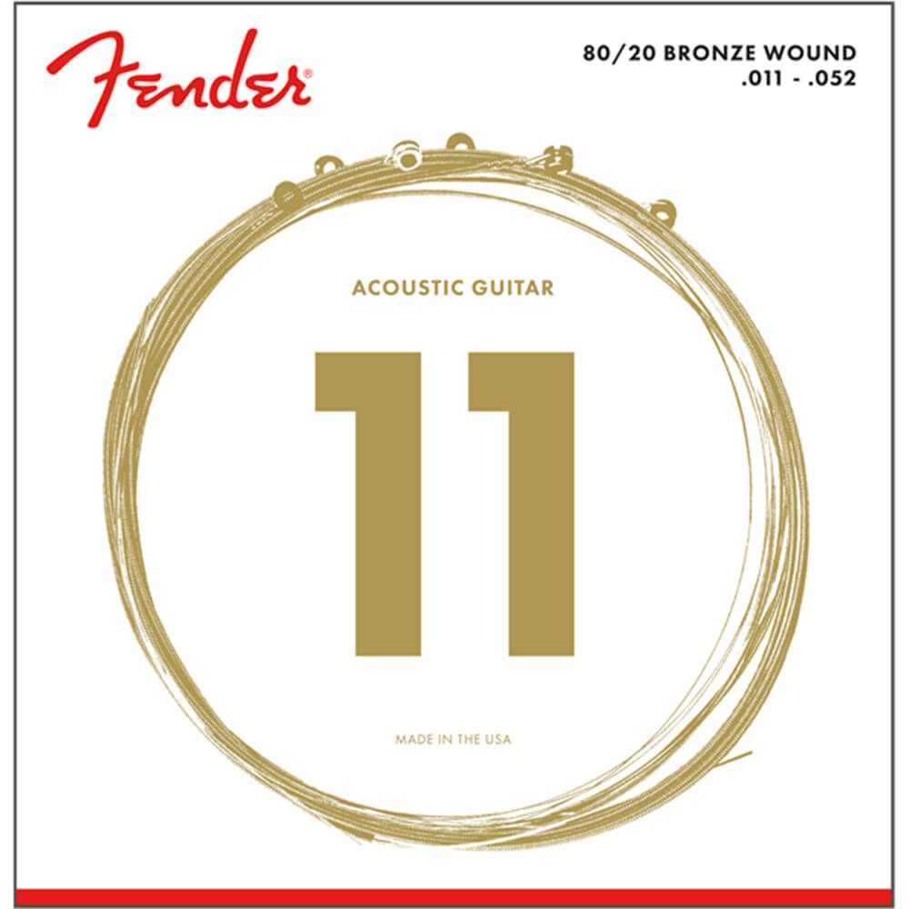 Fender 80/20 Bronze Wound Acoustic Strings, Ball End, 70CL, 11-52