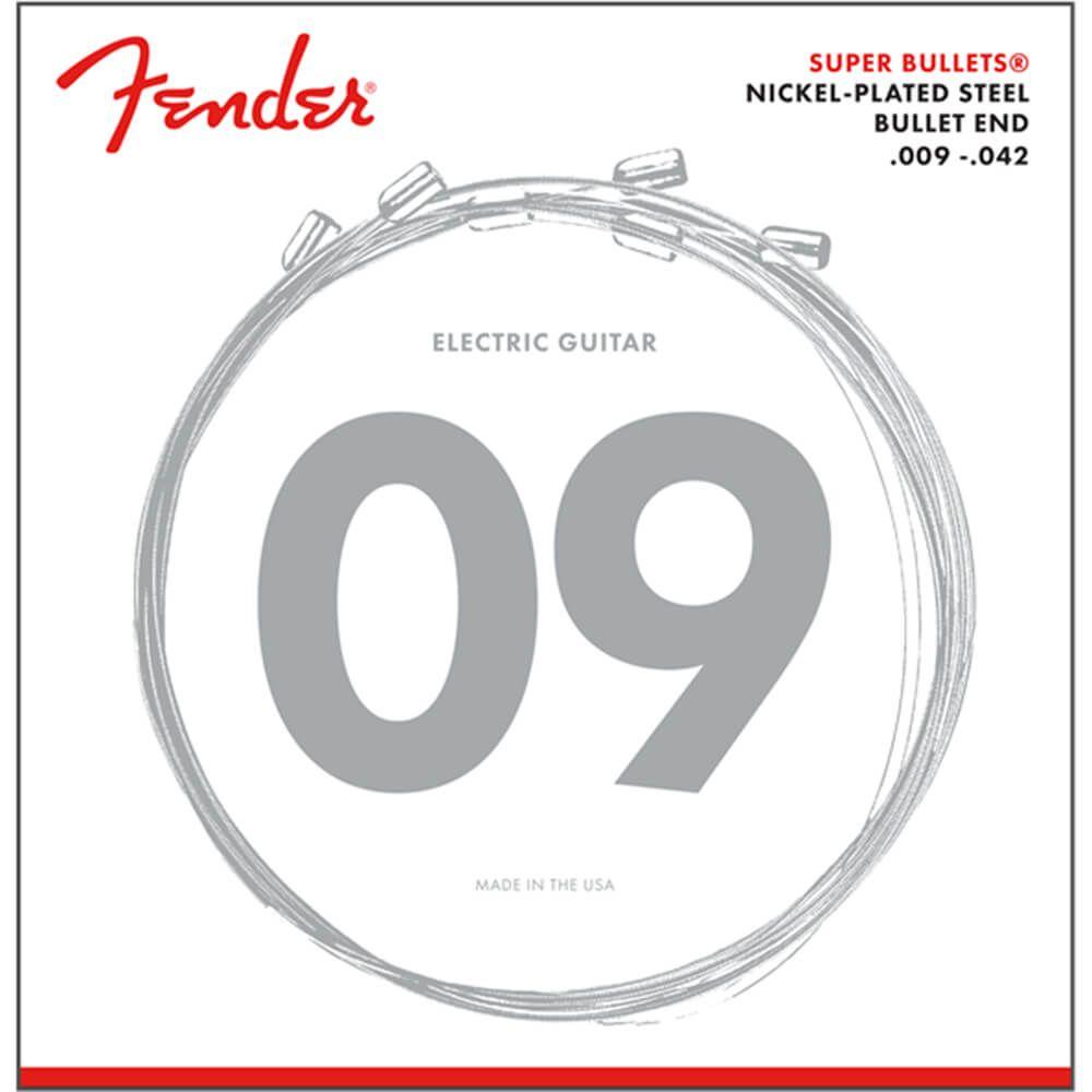 Fender Super Bullets Electric Guitar Strings, NPS, Bullet End, 3250L, 09-42