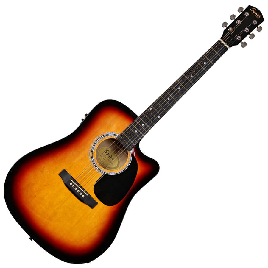 Squier SA-105CE Dreadnought - Sunburst