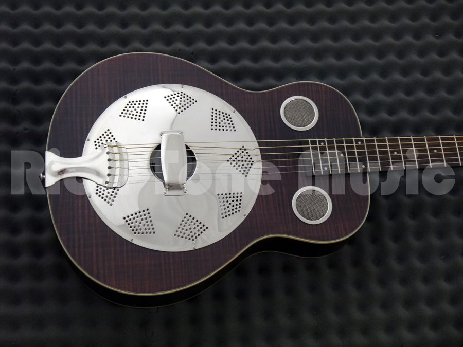 fender brown derby resonator rw brown stain rich tone music. Black Bedroom Furniture Sets. Home Design Ideas