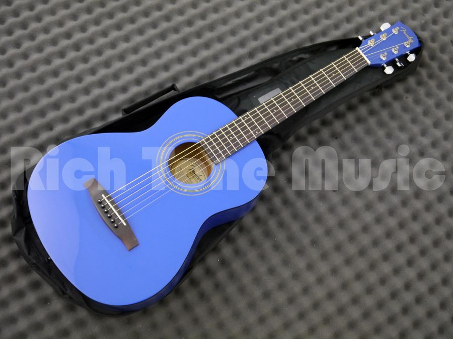 This Limited Edition Fender MA 1 3 4 Size Steel Acoustic Guitar Is Exactly The Same As Standard But In A Stunning Gloss Blue Finish
