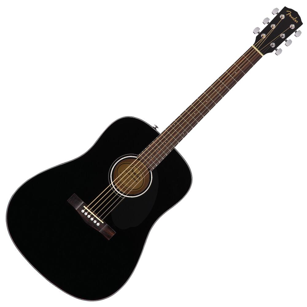 Fender CD-60S Dreadnought Acoustic Guitar - Walnut - Black