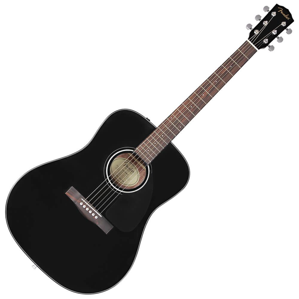 Fender CD-60 V3 Dreadnought Acoustic Guitar - WN - Black