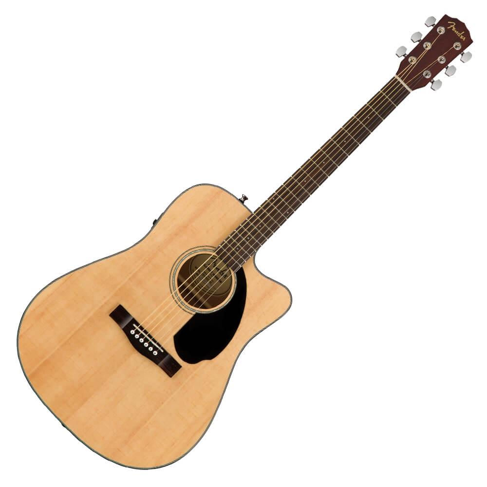 Fender CD-60SCE Dreadnought Electro-Acoustic Guitar - Walnut - Natural