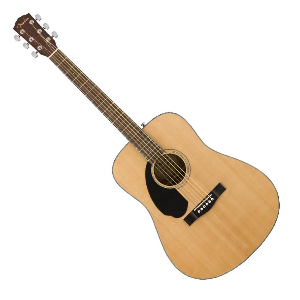 Fender CD-60S Left Handed Acoustic Guitar - Walnut - Natural